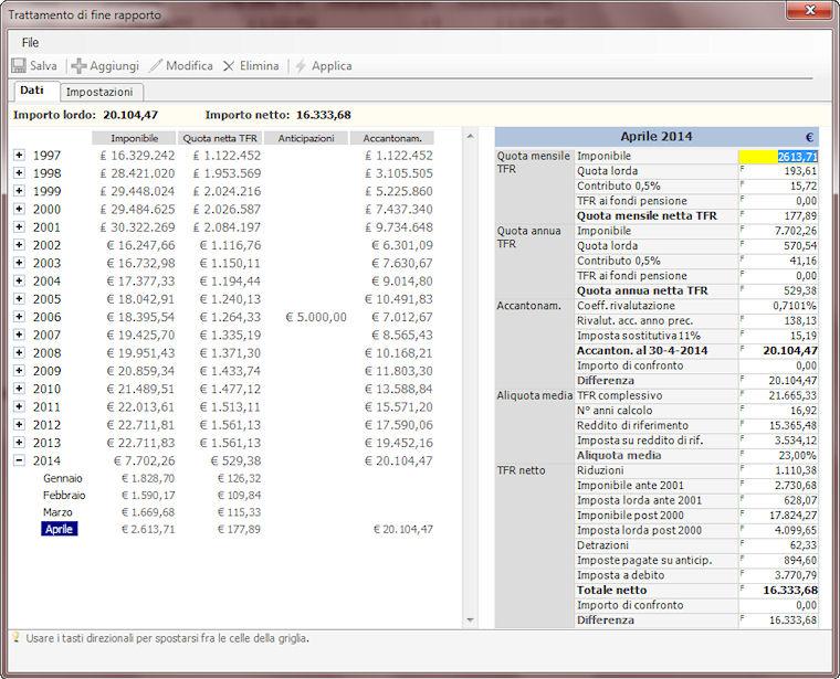 Conteggi di lavoro rd informatica - Calcolo finestra pensione ...